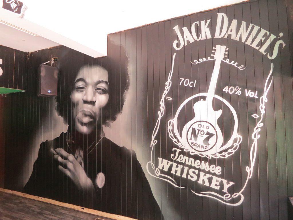 Jimi Hendrix Jack Daniels Cardiff Graffiti Street Art Murals